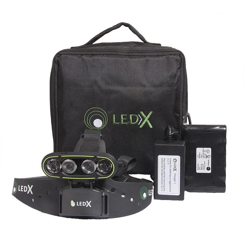 LEDX Mamba 4000 - paket komplett pannlampa