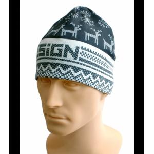 SIGN Hat S2 - Winter grey reindeer