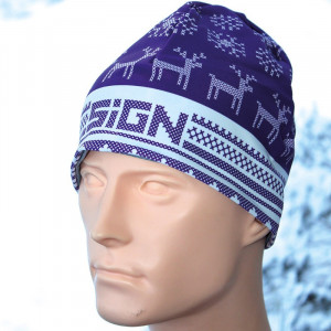 SIGN Hat S2 - Winter purple reindeer