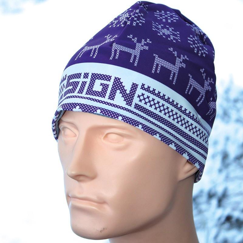 SIGN Hat S2 - Winter purple reindeer