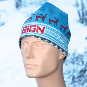 SIGN Hat S2 - Winter cyan reindeer