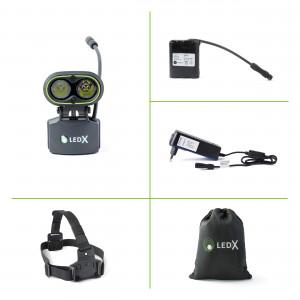 LEDX Kaa 2000 - pannlampa med integrerat batteri